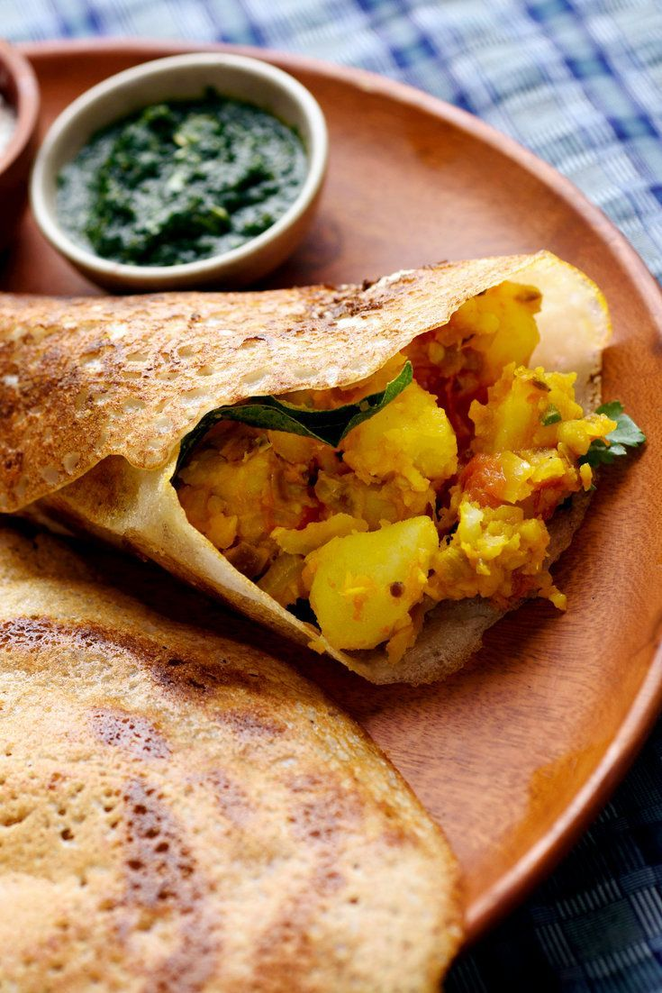 A properly made crisp and savory Indian dosa is wonderfully delicious, and fairly simple to make at home, with this caveat: the batter must be fermented overnight for the correct texture and requisite sour flavor However, once the batter is ready, it can be refrigerated and kept for several days, even a week With a traditional spicy potato filling, dosas makes a perfect vegetarian breakfast or lunch
