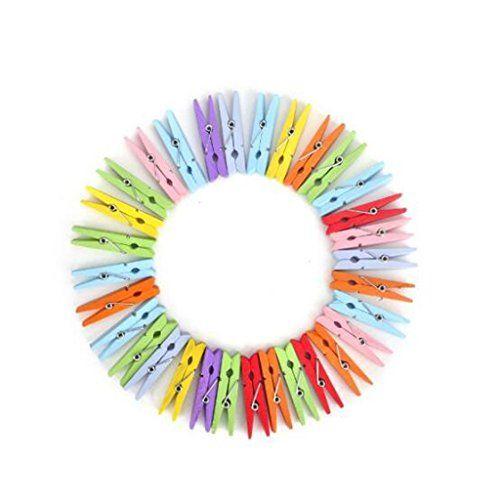100pcs mini pince color en bois couleur mixte epingle https - Wedding Planner Mariage Mixte
