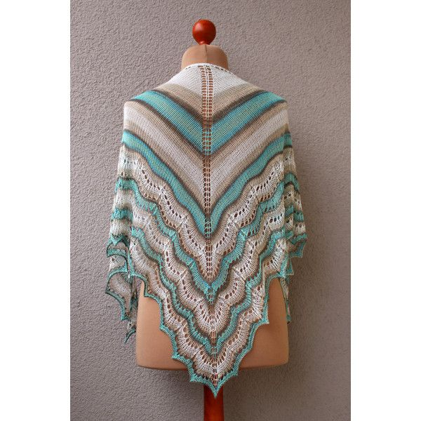 light bamboo shawl, summer shawl, striped shawl, beige turquoise shawl (335 PLN) ❤ liked on Polyvore featuring accessories, scarves, summer shawl, striped shawl, bamboo scarves, turquoise scarves and summer scarves