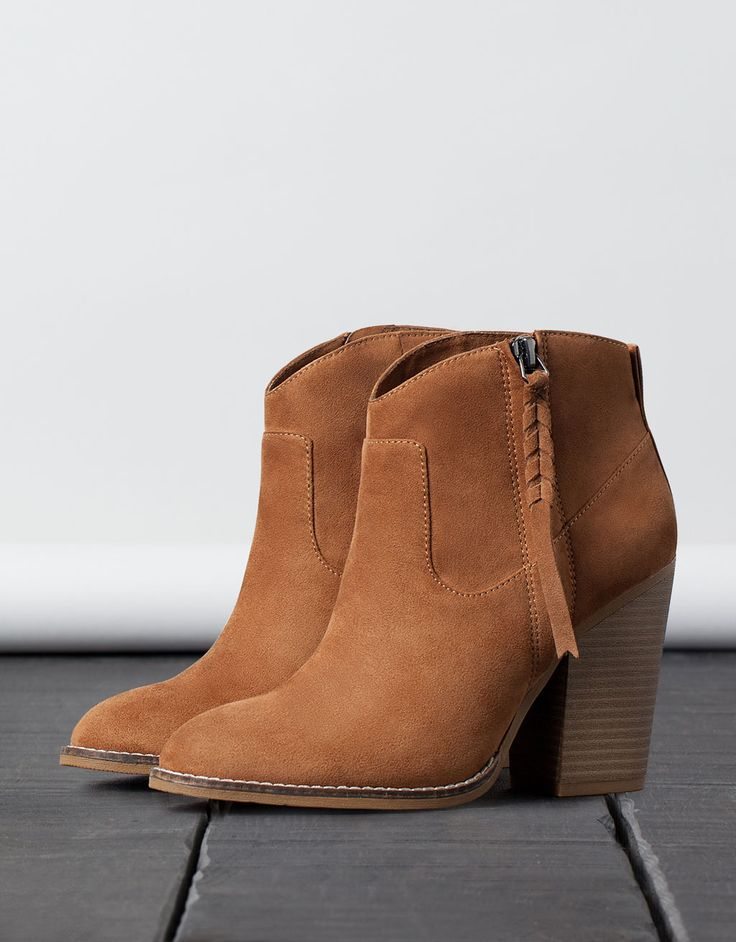 braided cowboy ankle boot. Discover this and many more items in Bershka with new products every week