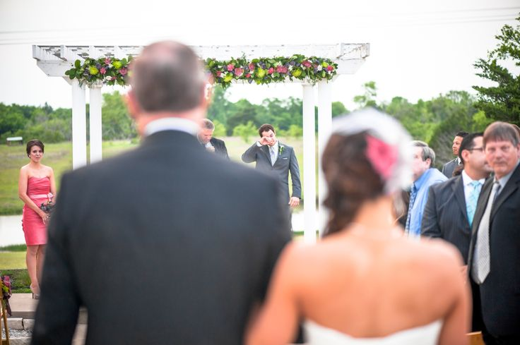 Great way to capture the bride AND the groom's first reaction
