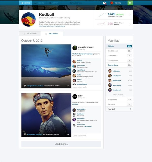 #InstagramBusiness 2 This design concept shows how useful a dedicated Instagram Web app for businesses would be
