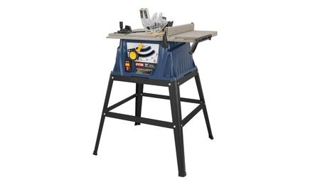 """RYOBI 10"""" TABLE SAW WITH STEEL STAND model # RTS10. """"dream workshop"""" $130"""