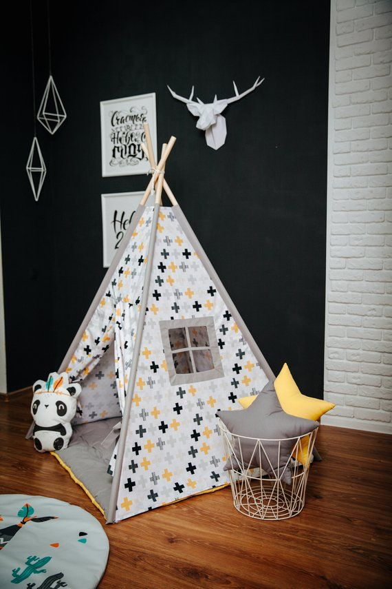 ready to ship teepee play tent teepee tent wigwam playhouse rh pinterest com