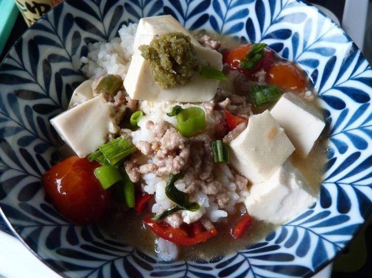 Miso svinekød og tofu gryde   miso no maapoo   みそのマーポー
