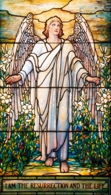Louis C. Tiffany and the Art of Devotion   MOBiA   Museum of Biblical Art. I Am the Resurrection and the Life.
