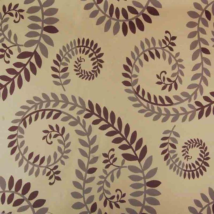 Abakhan Portland Curtain Fabric 7653 Aubergine 140cm