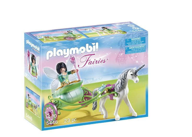 Amazon.com: Unicorn Carriage with Butterfly Fairy: Toys & Games