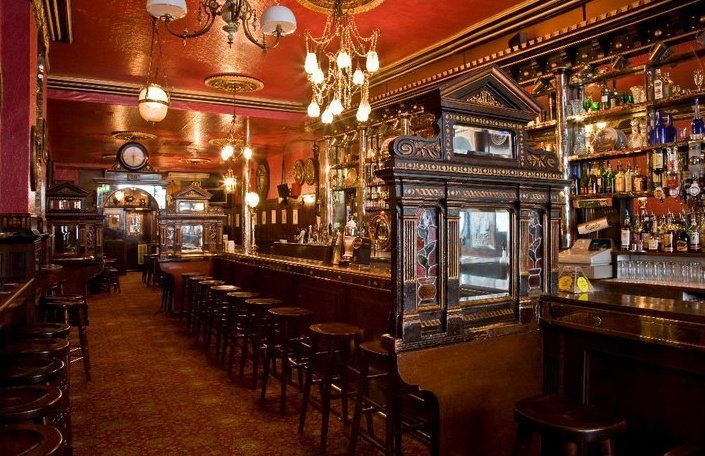 irish bar design victorian style the long hall ornate bar divider rh pinterest com