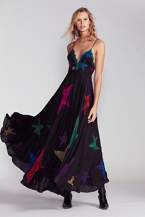 Slide View 1 Star Lace Maxi Dress