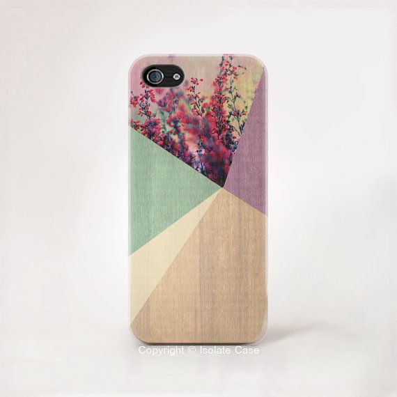 Floral geometrisch auf Holz iPhone 6 iPhone 5 s Holz Lavendel Farbe drucken iPhone 6 RS Holz geometrische iPhone 5 floral iPhone Fall