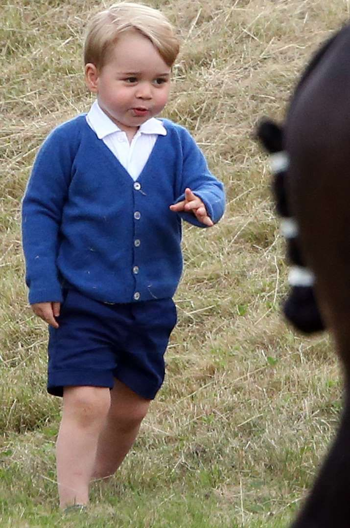 Le prince George à Tetbury, le 14 juin 2015 - Jason Dawson/Nunn Syndication/News Pictures