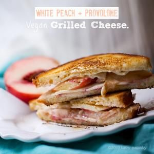 White Peach-Provolone Grilled Cheese (Vegan)