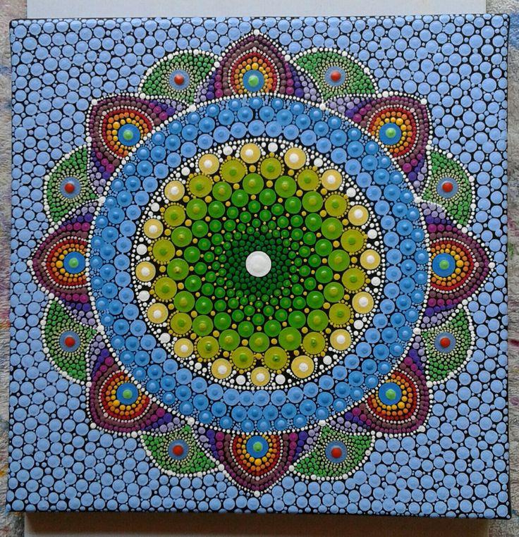 Mandala painted on canvas