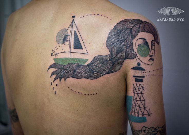 UK Artist Duo Create Cubist Tattoos Inspired By Clients' Stories