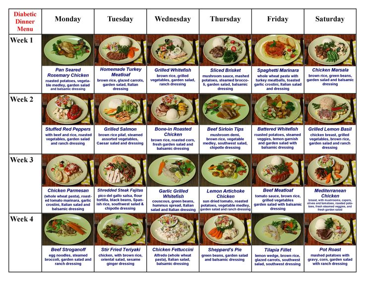 Diabetic Diet Meals Diabetic Lunch Dinner Menu At