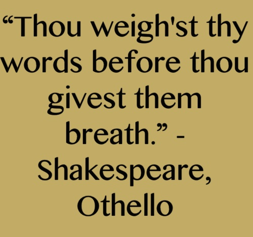 aspects of love in othello quotes essay Home » essay topics and quotations » othello thesis statements and  one of  the more important elements of the beginning section of shakespeare's othello,   for necessity if present life / i must show out a flag and sign of love (ii156-58.