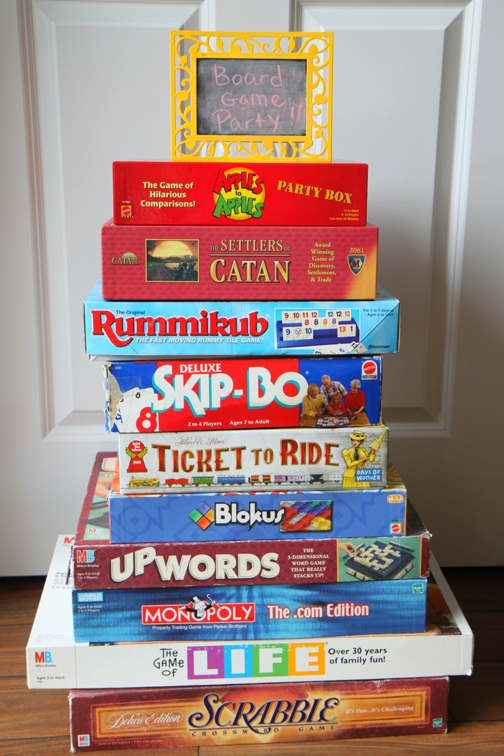 How to host a board game party.