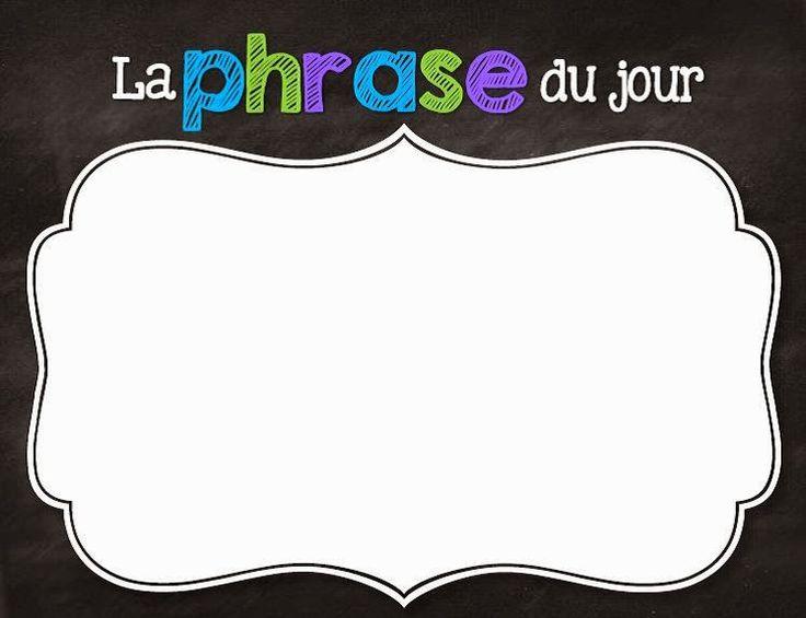 Remue-Méninges: La phrase du jour (pour l'analyse de la phrase) http://laclassedekarine.blogspot.ca/