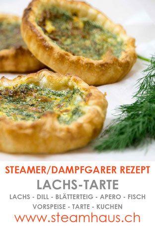 Lachs-Tarte aus dem Dampfgarer / Steamer.