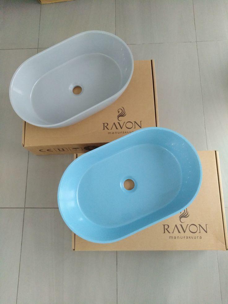Kolorowe umywalki nablatowe Ravon Space - polska produkcja, wysoka jakość materiałów, dowolna kolorystyka.