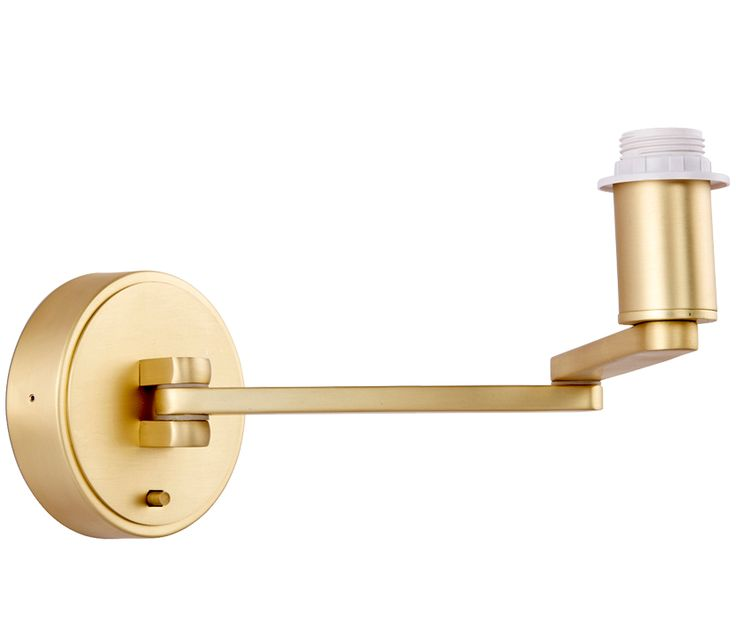 Endon 'Marlow' 1 Light Swing Arm Wall Light Fitting Only, Matt Brushed Gold - 61736 None