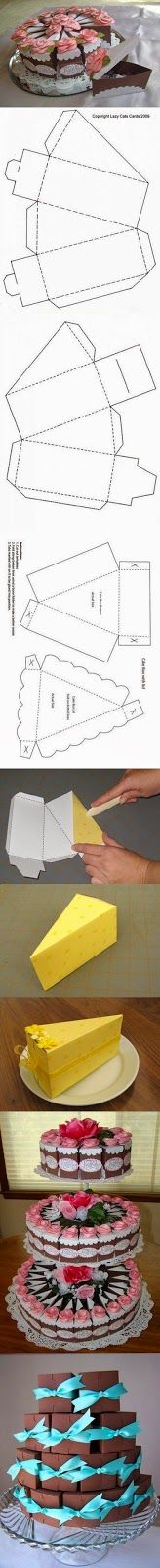 Hacer cajas de papel con forma de tarta