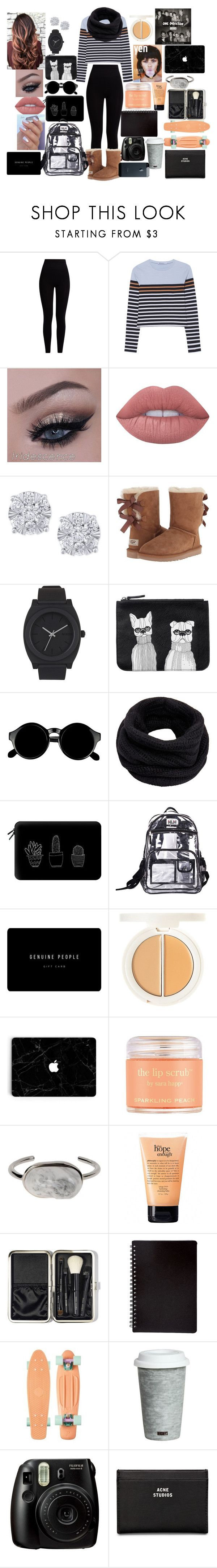 """Evangaline potter #12"" by annaconley on Polyvore featuring Pepper & Mayne, T By Alexander Wang, Lime Crime, Effy Jewelry, UGG Australia, Nixon, Monki, Retrò, Helmut Lang and Casetify"