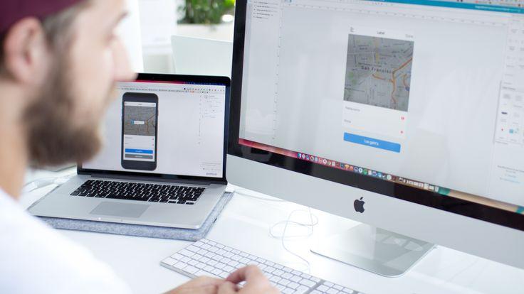 behind the screen | ui & ux | create app | interface design | imac | macbook | office | apple | appcom
