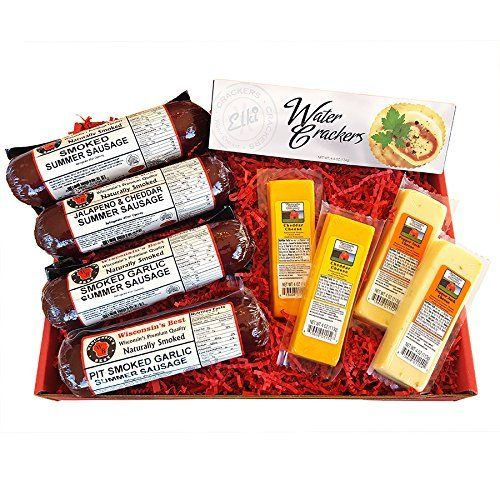 In the tradition of WISCONSIN'S BEST and WISCONSIN CHEESE COMPANY, the ULTIMATE Gift Box features Smoked Summer Sausages, 100% Wisconsin Cheeses and Crackers. This is perfect for a
