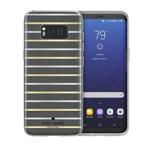 Samsung Galaxy Plus Incipio Kate Spade New York Protective Hardshell Case -  Surprise Stripe Clear / Silver / Gold