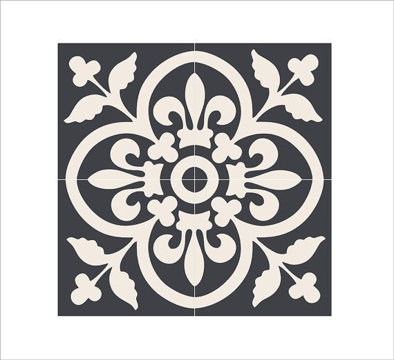 Moroccan kitchen/bathroom/stair/floor tile stickers: por Bleucoin