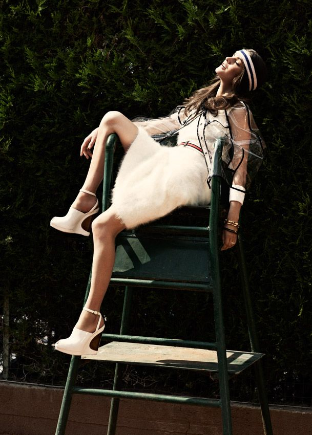 Tennis is chic!! Photos by David Burton for Elle Italia...shoes are great!!!