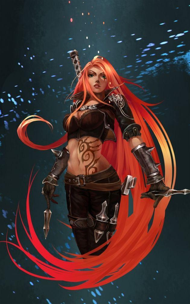 Katarina art | League of Legends | Pinterest | Mermaids