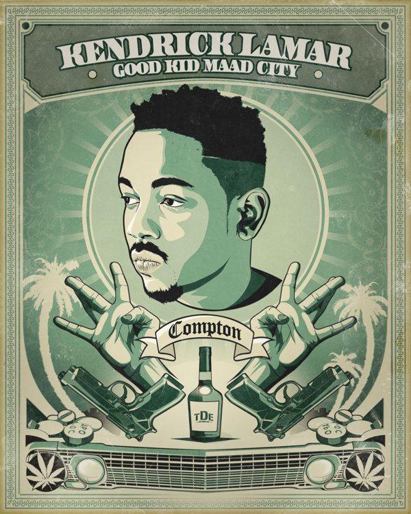 KENDRICK LAMAR - Good Kid MAAD City Poster by ALTERPROD , via Behance