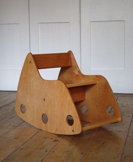 1960s child's rocking chair by Hans Mitzlaff and Albrecht Lange, USSR. Beech veneered plywood