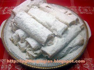 Τα φαγητά της γιαγιάς - Φλογέρες με βανίλια και αμύγδαλα