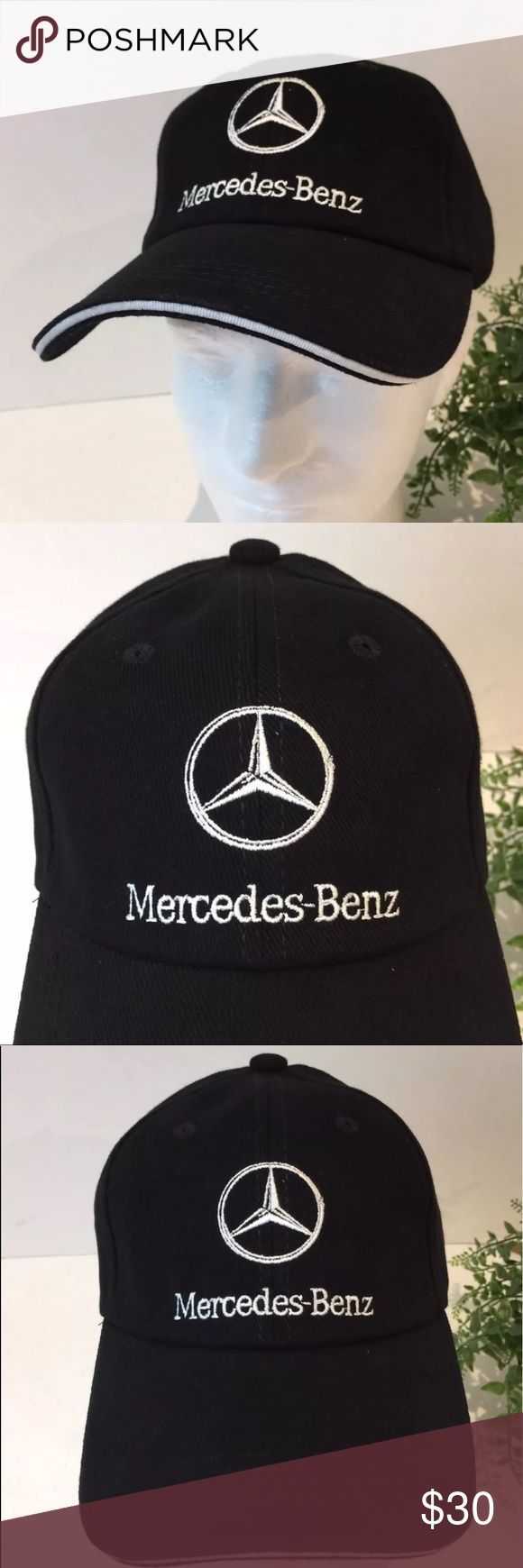Mercedes Benz Black Hat Logo Adjustable Strap NWOT Mercedes Benz of South Atlanta Embroidered Logo Black Hat Adjustable Strap New Without Tags (NWOT).  Comes from a smoke free pet free environment. Will be shipped in a box. Every effort is made to ensure the hat does not get crushed. unbranded Accessories Hats