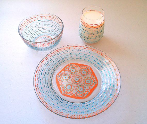 Check out this item in my Etsy shop https://www.etsy.com/listing/255869028/mandala-dinnerware-wedding-dining-sets