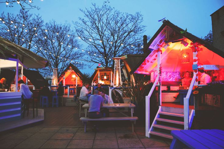 Grand Union Wandsworth is home to our hidden gem, 'Pleasure Island', a garden inspired by the beaches of California featuring beach huts splashed with neon.