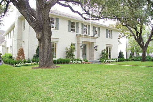 The White House: My Favorite Exterior Paint Combinations, BM Ballet  White, OC-9