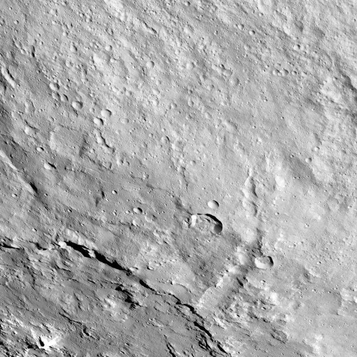Pongal Catena on Ceres This image from NASA's Dawn spacecraft shows the northeastern rim of Urvara Crater on Ceres. June 09 2017