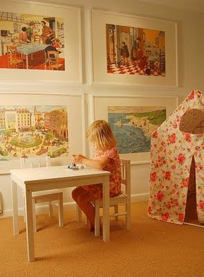 framesTents, Frames Prints, Kids Room, Girls Room, Kid Rooms, Plays Spaces, Big Art, Pictures Wall, Playrooms Art