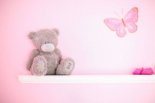 Pink Butterfly Themed Baby Girl Nursery Room With Pink