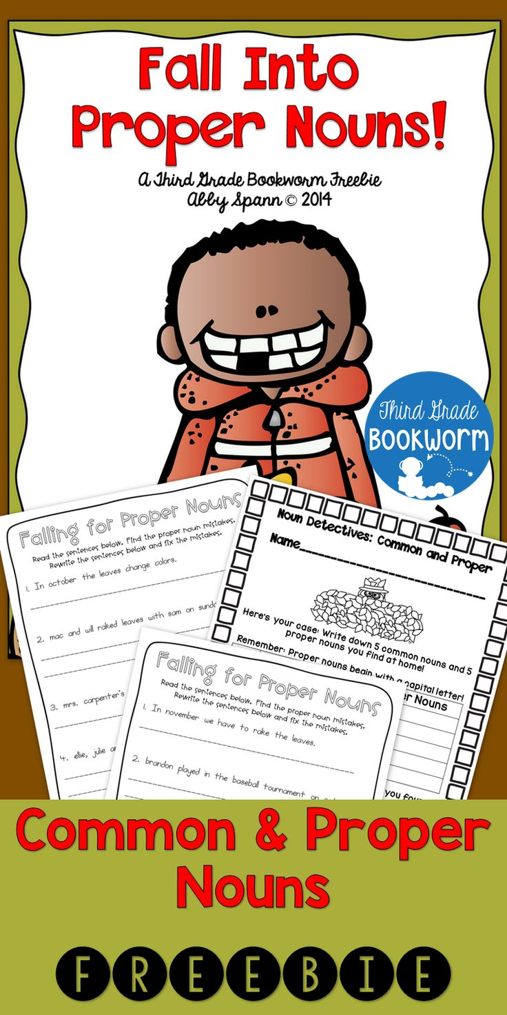 Proper Nouns for Fall {A Printable FREEBIE MiniPack