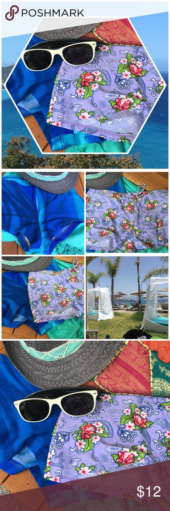 Boy-short swim bottoms See Pics • included in this listing 2 bottoms • never wore because I didn't feel comfortable in them • fits med to large best• sold together• cute with tankini or bikini top• (no trades or PP) review pics prior to purchase 📦 thanks @keg90 Swim Bikinis