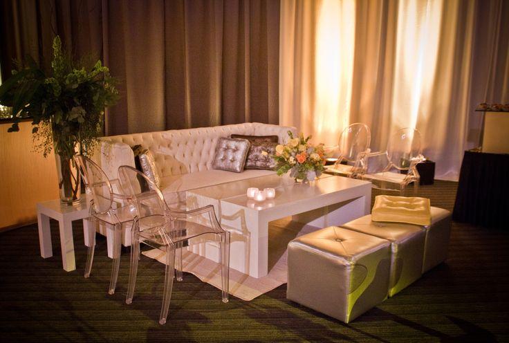 #sala # vintage #ivory y plata con silla ghost y #entelado combinado
