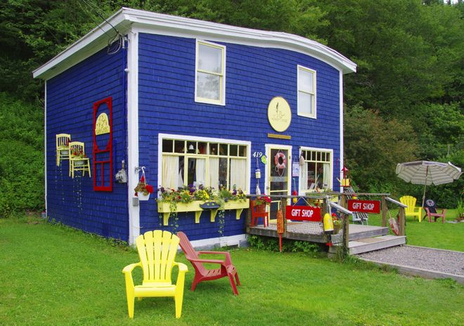 Funky gift shop in St. Martins near the Fundy Trail Parkway in New Brunswick