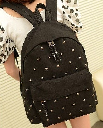 The punk Girly Backpack school supplies fashion backpack cool style on Etsy, $29.00