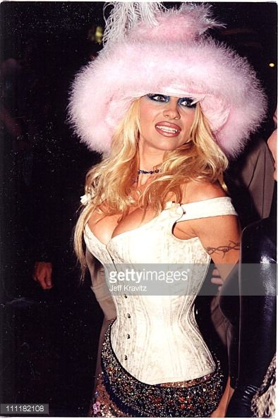 Pamela Anderson during 1999 MTV Video Music Awards at Lincoln Center in New York City New York United States